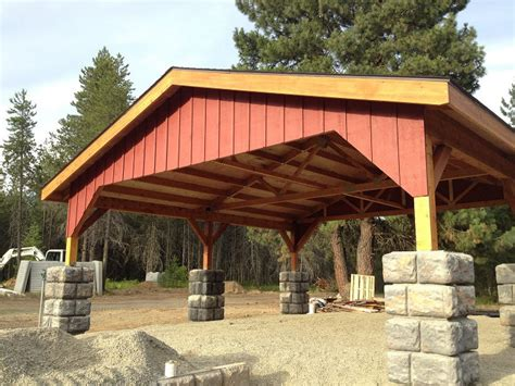 Sandpoint Contractor Builds Post And Beam Carport