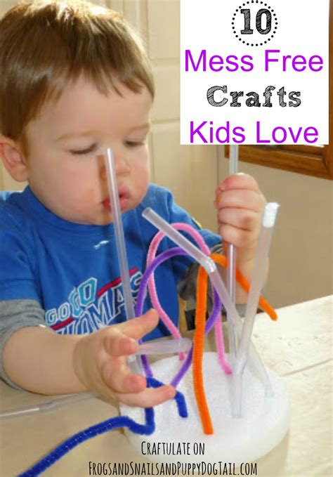 free craft ideas for 10 mess free crafts fspdt 7729