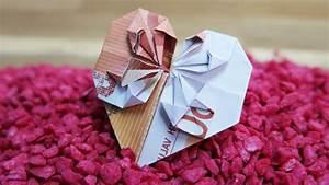 Herz Basteln Geld : 4 einfache schritte f r origami geld herz falten ~ A.2002-acura-tl-radio.info Haus und Dekorationen