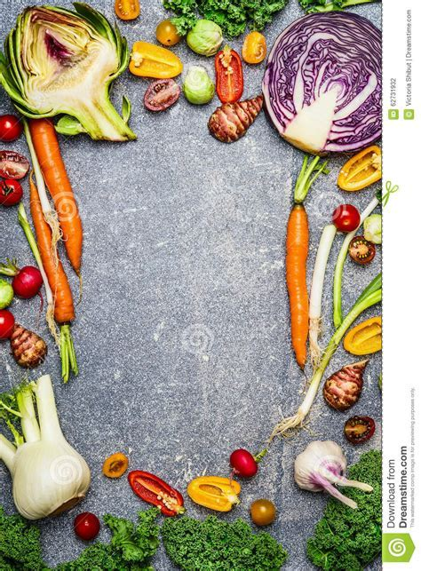 Healthy Or Vegetarian Food Background With Assortment Of