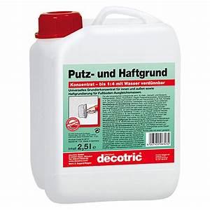 Grundierung Für Putz : decotric putz und haftgrund 2 5 l bauhaus ~ Michelbontemps.com Haus und Dekorationen