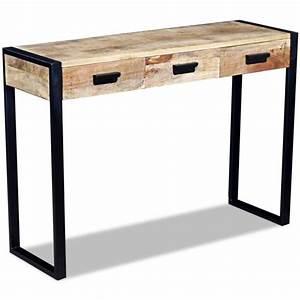 Console Avec Tiroir : console meubles achat vente console meubles pas cher cdiscount ~ Teatrodelosmanantiales.com Idées de Décoration