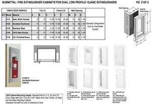 fire extinguisher cabinets mounting height ada cabinets