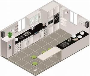 Aménagement Cuisine En U : cuisine en parallle comment amnager une cuisine en ~ Premium-room.com Idées de Décoration