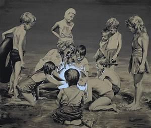 New surreal oil paintings that subvert vintage vacation for New surreal oil paintings by paco pomet