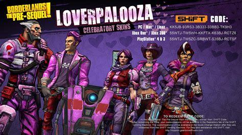 Borderlands: The Pre-Sequel Loverpalooza 2016 Skins ...