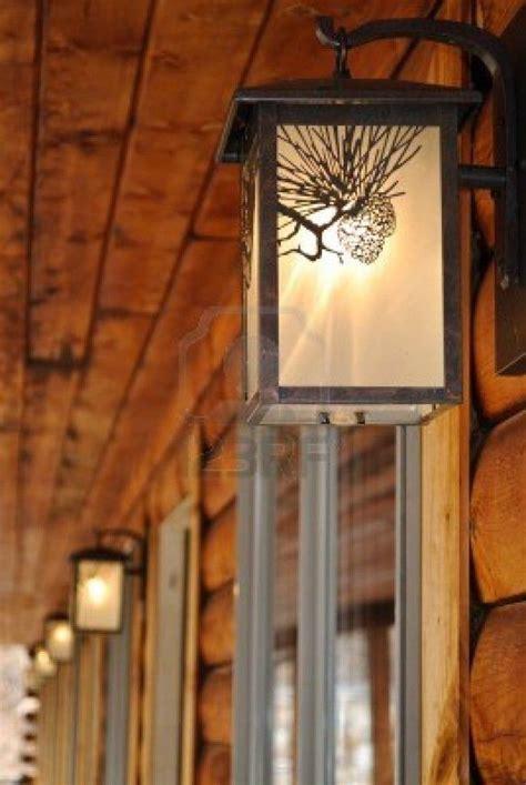 decoration outdoor lighting fixtures   log cabin motel