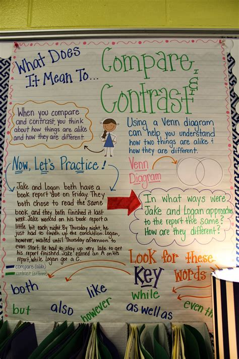 Compare And Contrast  Life In Fifth Grade