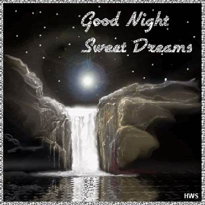Night Goodnight Gifs Sweet Dreams Animated Desicomments