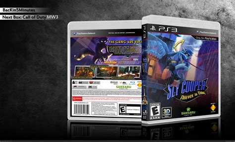 sly cooper thieves  time playstation  box art cover