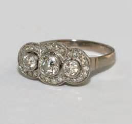 vintage gemstone engagement rings vintage 3 engagement ring