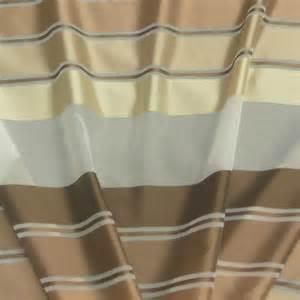 designer gardinenstoffe gardinenstoff meterware voile weiß streifen braun 1 5m höhe gardinenstoffe transparente stoffe
