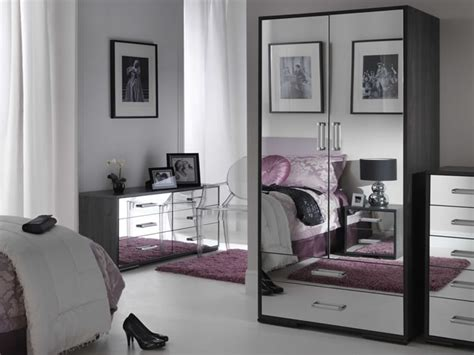 black mirrored glass bedroom furniture   home