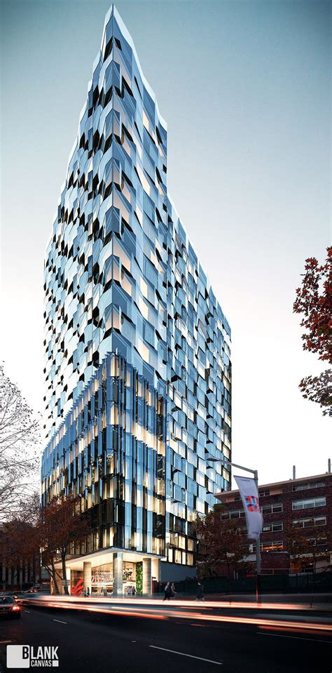 Residential Tower On Behance Architectural Visualization
