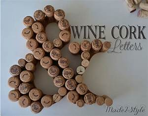 wine cork initials place card holders made2style With how to make wine cork letters