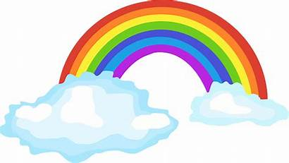 Colorful Clouds Bright Pixabay Rainbow Vector Weather