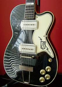 Rare 50 U0026 39 S Vintage Kay Airline Pro Archtop Electric Guitar
