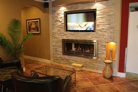 gas fireplace  tv  recessed tv  gas