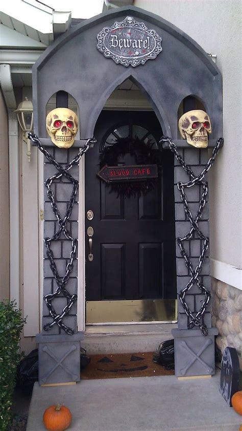 skull halloween front doors homemydesign