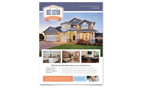 property brochure template free new property flyer template design
