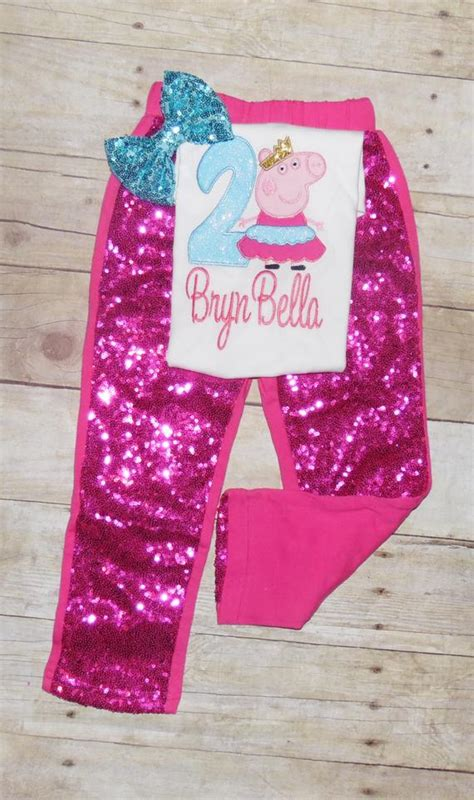 peppa pig birthday outfit pants peppa pig birthday outfit