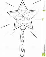 Wand Coloring Star Useful Illustration sketch template