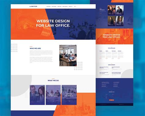Free Law Firm Website Template Psd
