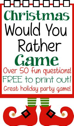 family fun dares for christmas would you rather questions ideas gaming