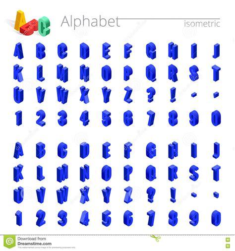 3d Isometric Alphabet Vector Font Isometric Letters