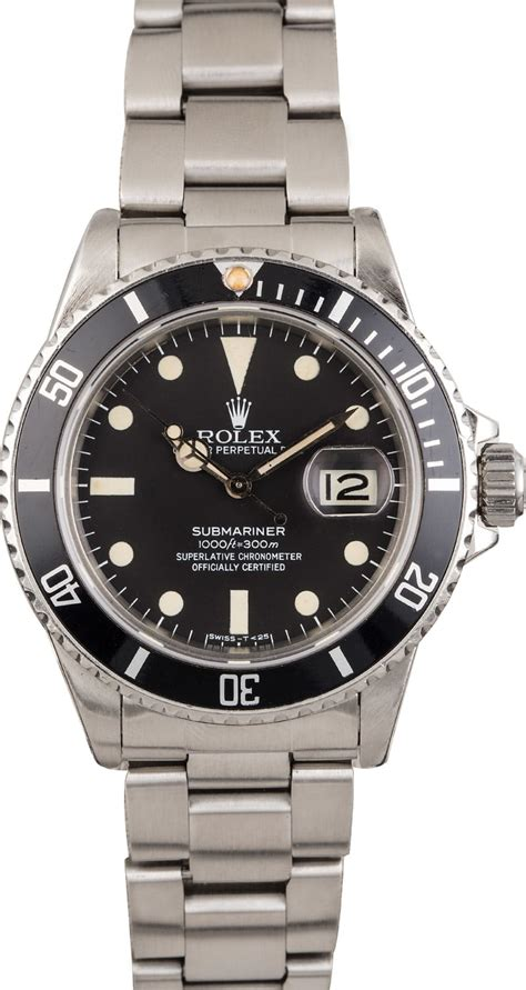 Buy Used Rolex Submariner 16800 | Bob's Watches - Sku: 123916