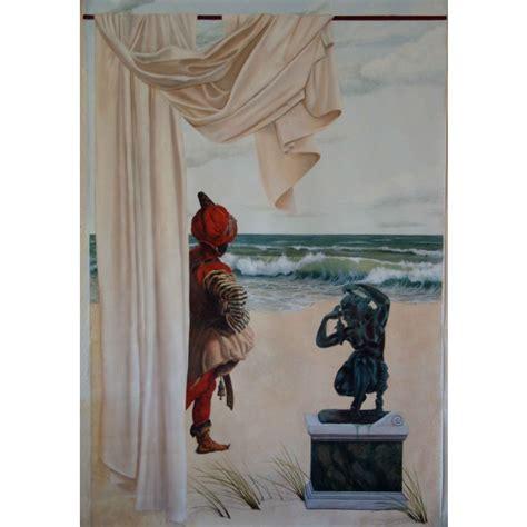 peinture murale trompe l oeil la sentinelle