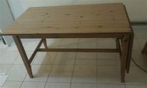 Ikea Table Bois : table bois ikea rallonge table de lit a roulettes ~ Teatrodelosmanantiales.com Idées de Décoration