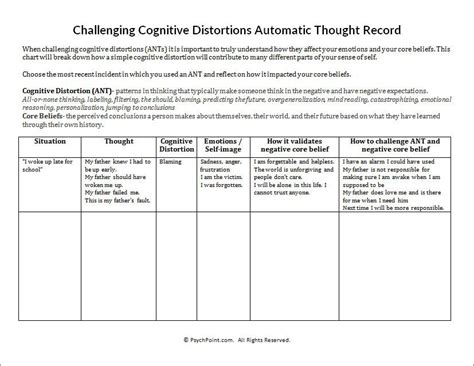 distorted thinking worksheet them and try to solve