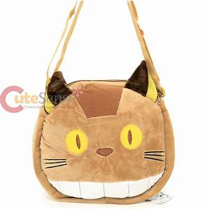 My Neighbor Totoro Cat Bus Plush Doll Messenger Bag ...