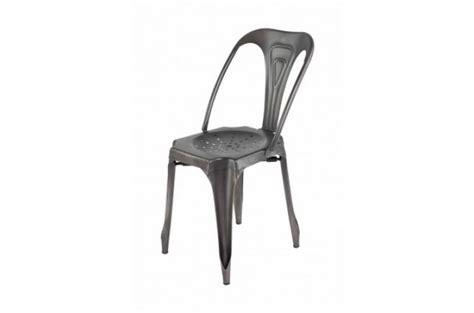chaise industrielle pas cher chaise industrielle métal kirk chaise design pas cher