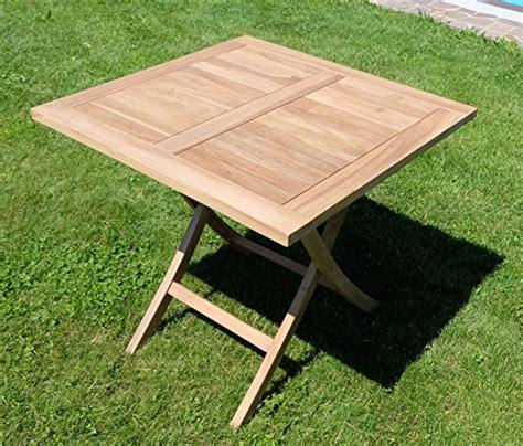 Teak Klapptisch Holztisch Gartentisch Garten Tisch 80x80