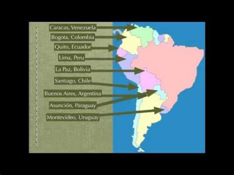 south america map rap spanish speaking countries