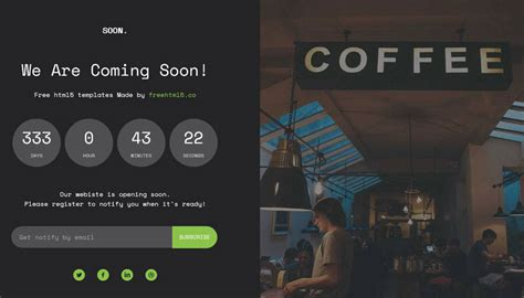 Coming Soon Web Page Templates by 50 Free Coming Soon Under Construction Html Templates