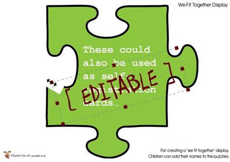 teachers pet displays editable jigsaw pieces