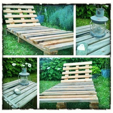 chaise en palette 5 projets en palette pour le jardin