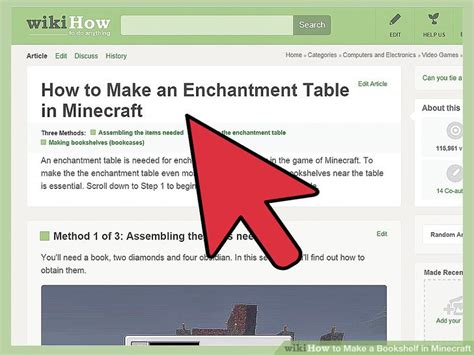 Bookcase Recipe by How To Make A Bookshelf In Minecraft 9 Steps With Pictures