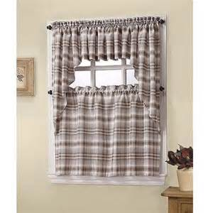 s lichtenberg dawson plaid kitchen tier valance or swag