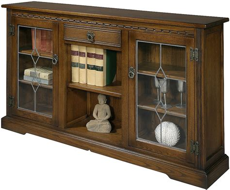 Low Bookcase With Doors by Charm Oc 2793 Low Bookcase With Glass Doors