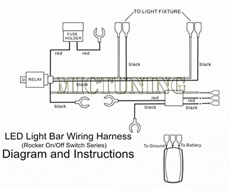 Mictuning Led Light Bar Wiring Harness Amp Relay