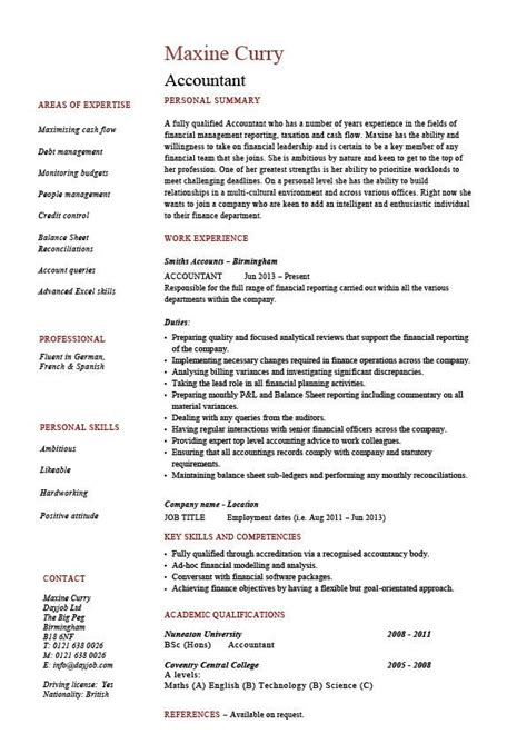resume for an accountant accountant resume example accounting job description