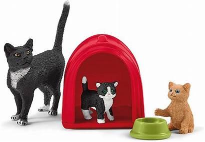 Schleich Kitten Farm Cats Playtime Katten Schattige