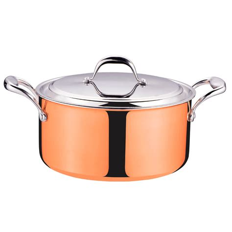 pcs home cooking tri ply clad copper cookware set   cooktops