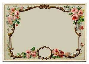 Vintage Clip Art - Pretty French Perfume Label - Frame ...
