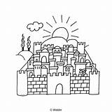 Hamikdash Yerushalayim Coloring Bais Waldereducation Ag002 sketch template