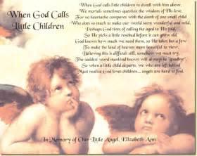 Poem When God Calls Little Children